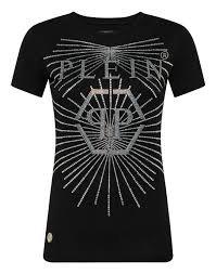 PHILIPP PLEIN T-Shirt manica corta con swarovsky