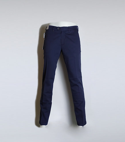 RE-HASH Pantalone chinos in cotone elasticizzato