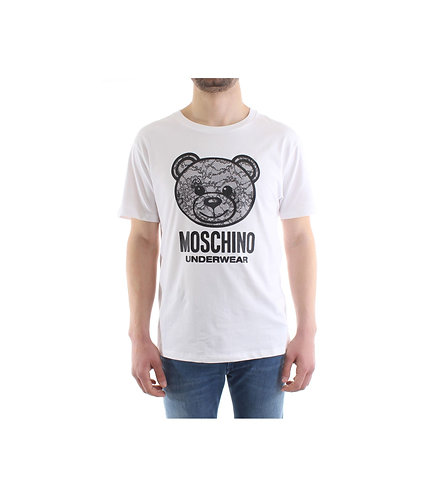 MOSCHINO T-Shirt Teddy con effetto pizzo pizzo