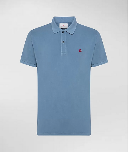 PEUTEREY Polo in piquet stone wash