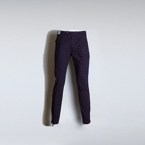 RE-HASH Pantalone a quadri con pinces