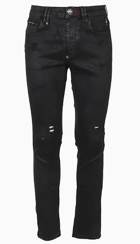 PHILIPP PLEIN Jeans Super Straight Cut effetto placcato