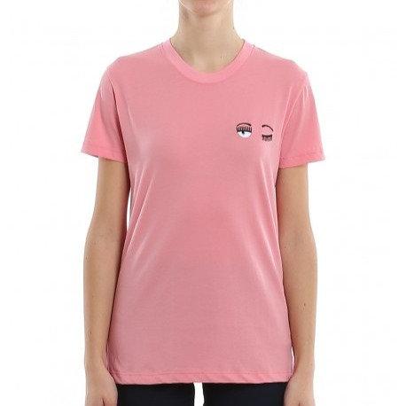CHIARA FERRAGNI T-shirt manica corta con logo ricamato