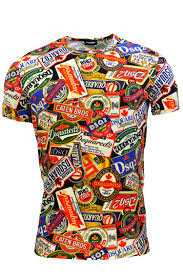 DSQUARED2 T-shirt fantasia manica corta