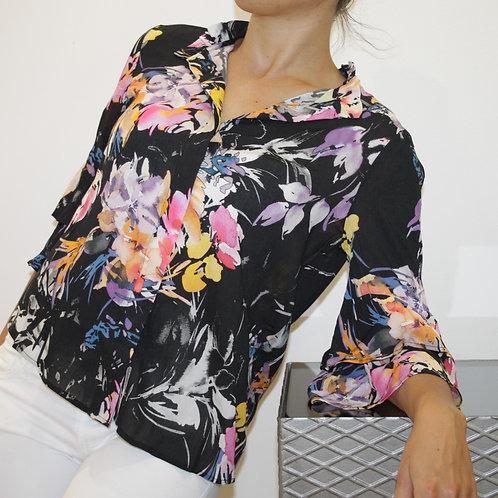 BLUGIRL FOLIES Camicia manica lunga stampa floreale