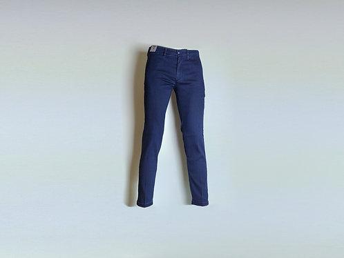RE-HASH Pantalone chinos elasticizzato effetto jeans
