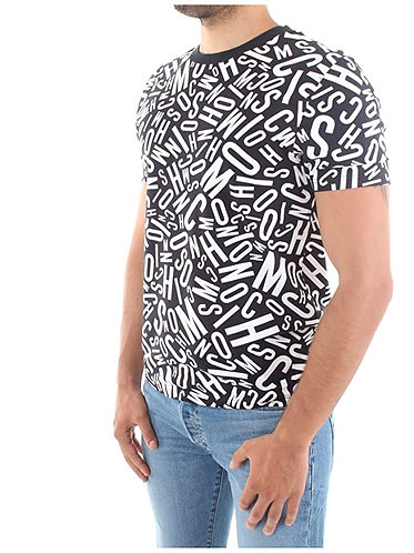 MOSCHINO T-Shirt logata all over