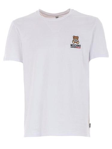 MOSCHINO T-shirt elasticizzata con logo ricamato