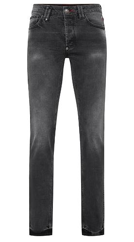 PHILIPP PLEIN Jeans Super Straight Cut grigio