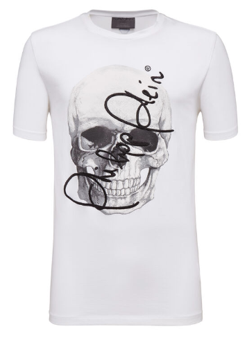 PHILIPP PLEIN T-Shirt con teschio stampato e ricamata Something