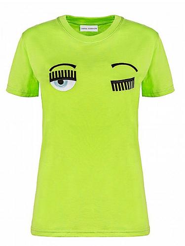 CHIARA FERRAGNI T-shirt manica corta con occhi