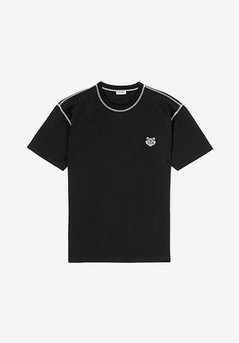 KENZO T-Shirt manica corta con tigre ricamata