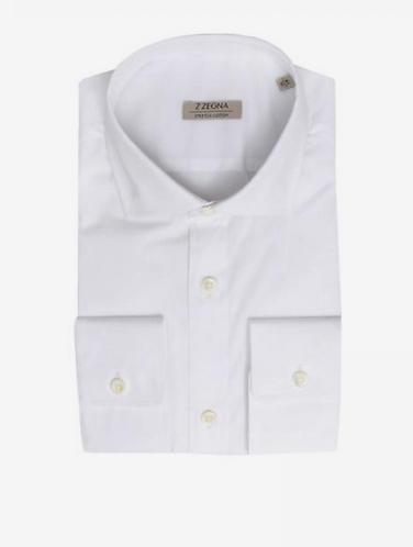 Z ZEGNA  Camicia in cotone elasticizzato