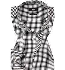 BOSS Camicia cotone check