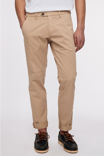 ROY ROGER'S Pantalone in gabardina stretch di cotone