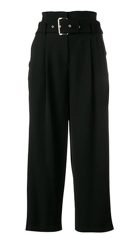 MICHAEL KORS Pantalone cropped largo con cintura