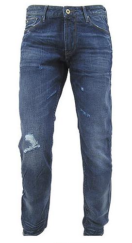 EMPORIO ARMANI Jeans stone washed con strappi