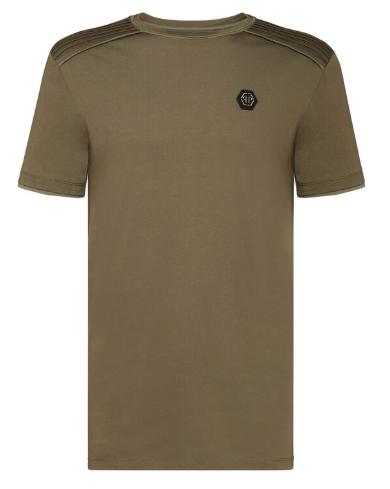 PHILIPP PLEIN T-Shirt manica corta con logo sul petto