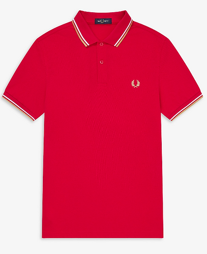 FRED PERRY Polo in piquet di cotone