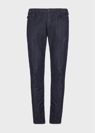 EMPORIO ARMANI Jeans slim in denim elasticizzato