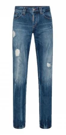 PHILIPP PLEIN Jeans Straight Cut strappato