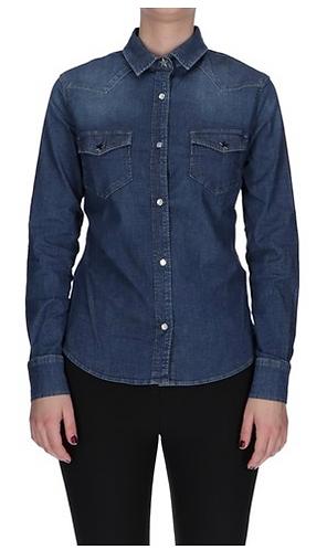 ROY ROGER'S Camicia in jeans lavaggio medio