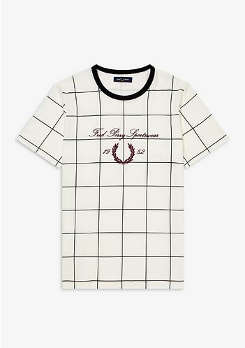 FRED PERRY T-Shirt con motivo e logo ricamato