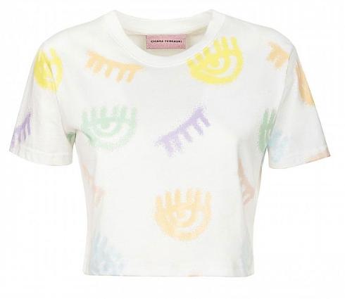 CHIARA FERRAGNI T-Shirt corta Logomania Spray