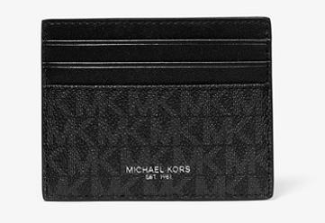 MICHAEL KORS Portacarte Greyson logato