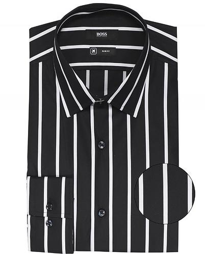 BOSS Camicia slim fit bastone