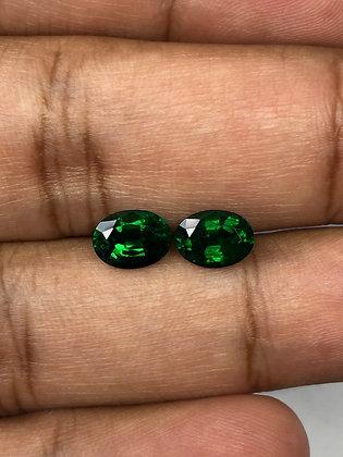 Zambian Emerald Oval Pair 2.11 Carats