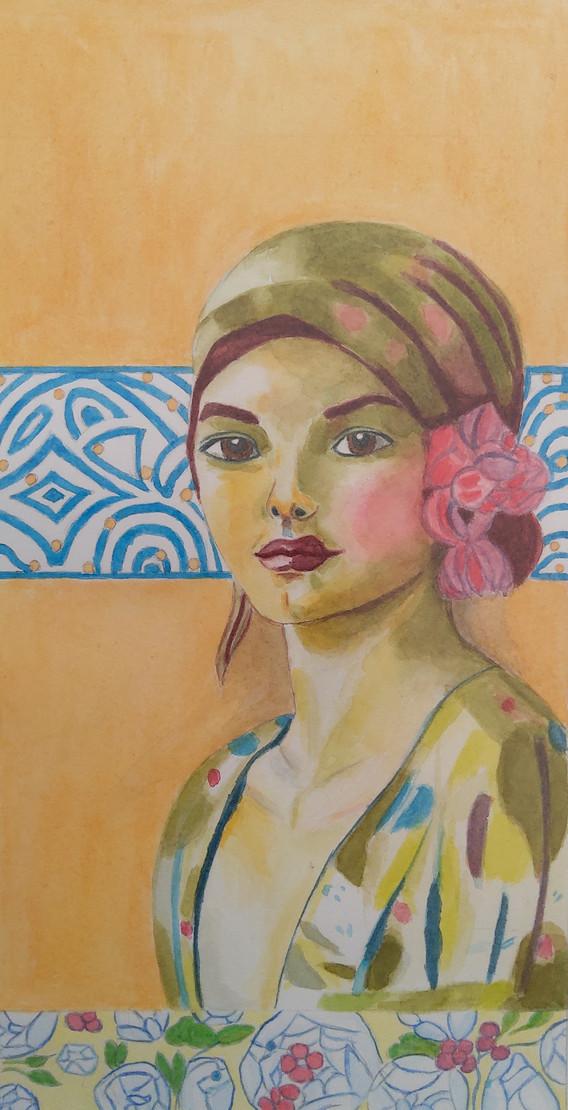 Florence Aubry_femme au foulard2020
