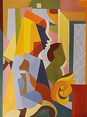 Josiane Berthelot-d'après Lempicka-Huile