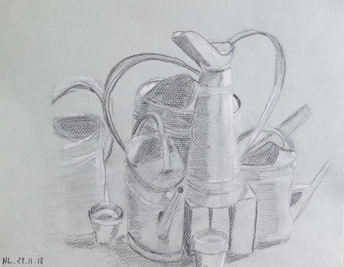Nadege Lebray-Composition-Crayon & pastel