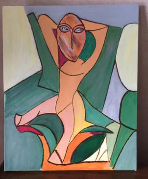 Marylene Deysson_Les couleurs de Cézanne sur une œuvre de Picasso