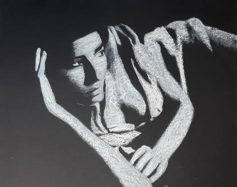 Nadege Lebray-Pastel blanc