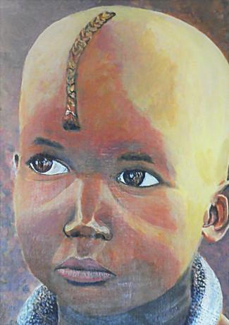 Alain Fortier-le petit Himba de Namibie