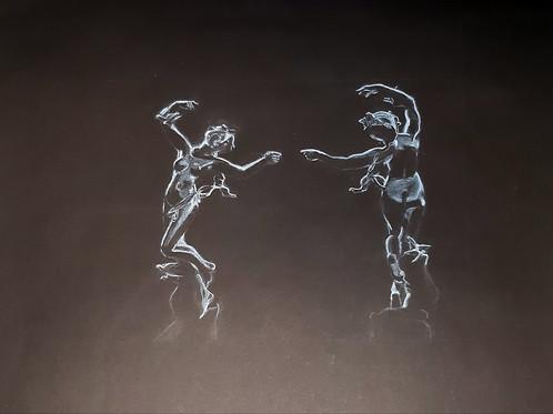 Nadege Lebray-Dessin d'après une sculpture de  Felix Charpentier