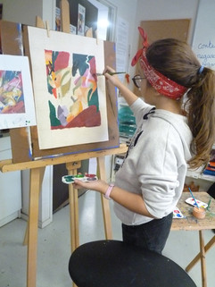 Peinture au chevalet