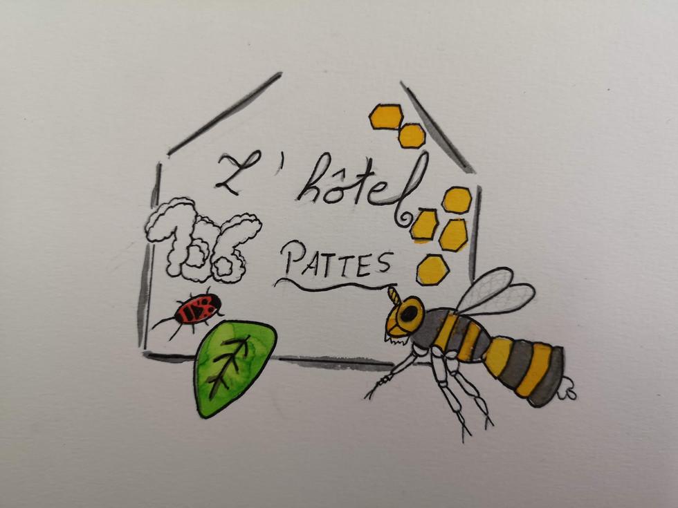 Logo opération hôtels à insectes