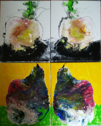 Marie France Gayon - composition fruits