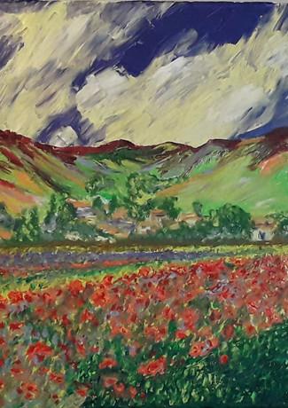 Gilles Cosson_D'un peintre à l'autre. Les couleurs de Gauguin sur un tableau de Cézanne