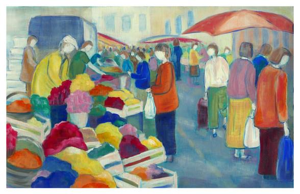 Au marché-Marie Christine Prévault