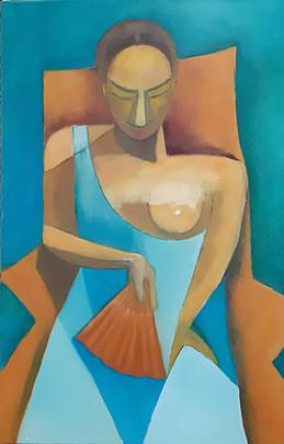 Josiane Berthelot-d'après Picasso-Huile