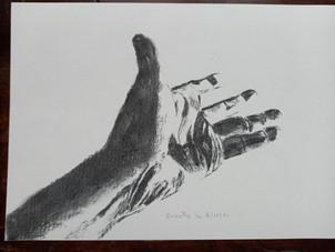 Fusain_Etude de main