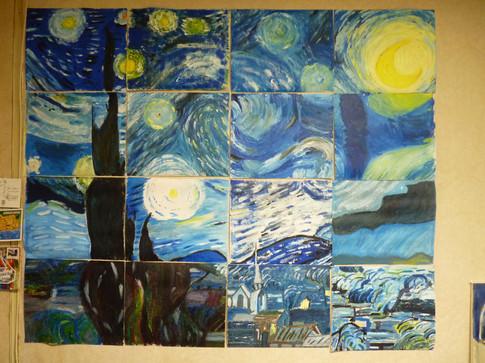 Grand format - Mouvement à 16 peintres