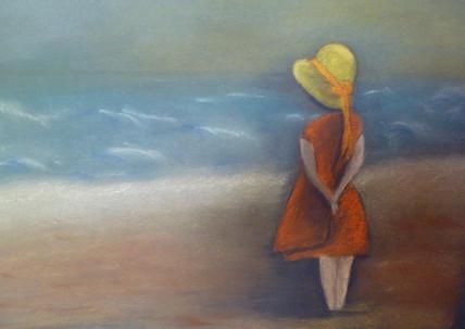 Anita Loiseleur-pastel-face a la mer