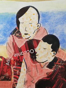 Christiane Renault - collage chinois