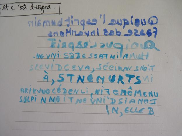 Ecriture spéculaire / écriture en miroir