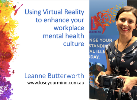 Using VR to enhance workplace mental health culture.           It's not a gimmick - it's essential.
